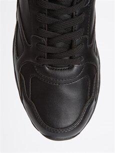 LC Waikiki Siyah Erkek Kalın Taban Bağcıklı Ayakkabı