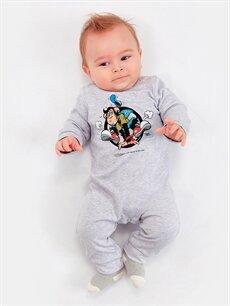 Erkek Bebek Erkek Bebek Nostaljik Maymun Baskılı Tulum