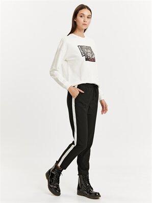 Beli Lastikli Şerit Detaylı Havuç Pantolon - LC WAIKIKI