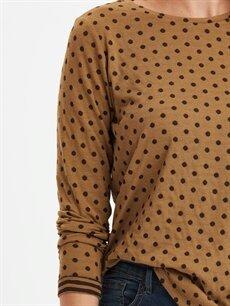 %68 Polyester %32 Viskon Puantiyeli Tişört