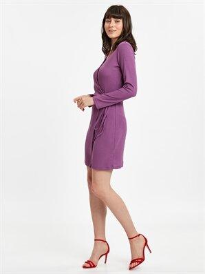 Kruvaze Mini Elbise - LC WAIKIKI