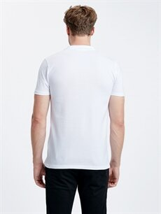%100 Pamuk Normal Düz Tişört Polo Polo Yaka Kısa Kollu Pike Tişört