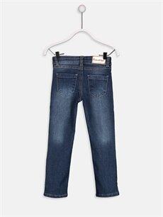%78 Pamuk %21 Polyester %1 Elastan Normal Bel Dar Slim Jean Pantolon