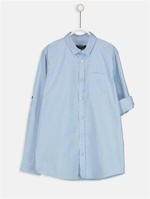 Uzun Kollu Poplin Gömlek -8W0506Z4-J0G