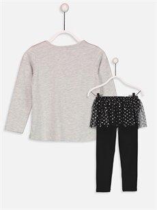 %60 Pamuk %40 Polyester Baskılı Uzun Kollu Pijama Takımı