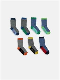 %61 Pamuk %15 Polyester %22 Poliamid %2 Elastan  Soket Çorap 7'li