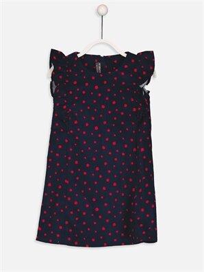 Fırfır Detaylı Kadife Elbise - LC WAIKIKI