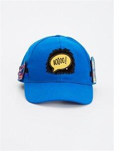 %100 Pamuk Şapka Erkek Çocuk Aplikeli Şapka