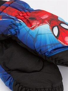 %100 Polyester %100 Polyester Atkı, Bere ve Eldiven Erkek Çocuk Spiderman Kar Eldiveni