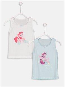 Beyaz My Little Pony Pamuklu Atlet 2'li 8W6781Z4 LC Waikiki