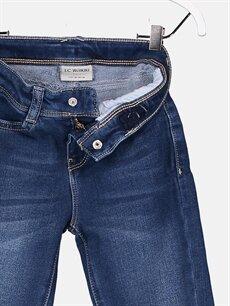 %80 Pamuk %18 Poliester %2 Elastan Kız Çocuk Slim Jean Pantolon