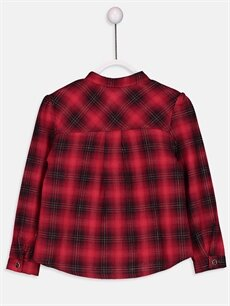 %98 Pamuk %1 Polyester %1 Metalik iplik Standart Gömlek Ekoseli Uzun Kol Kız Çocuk Flanel Ekose Gömlek