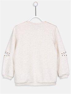 %47 Pamuk %53 Polyester  Kız Çocuk Baskılı Sweatshirt