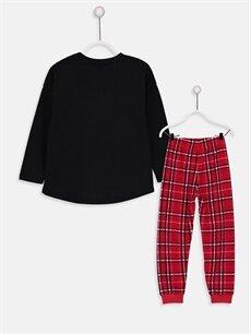 %100 Pamuk Standart Pijamalar Kız Çocuk Payetli Minnie Mouse Pamuklu Pijama Takımı