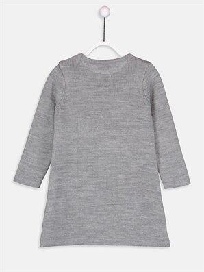 Kız Çocuk Aplikeli Kalın Triko Elbise -8WO646Z4-CT3