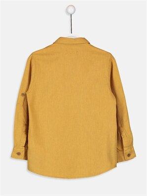 Erkek Çocuk Uzun Kollu Twill Gömlek -8WO801Z4-D0T