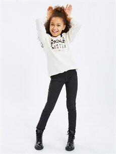 Kız Çocuk Kız Çocuk Aplikeli Triko Kazak