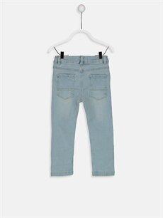 %98 Pamuk %2 Elastan Normal Bel Normal Erkek Bebek Jean Pantolon