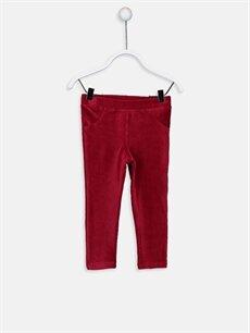 Kırmızı Kız Bebek Kadife Tayt 8W1626Z1 LC Waikiki