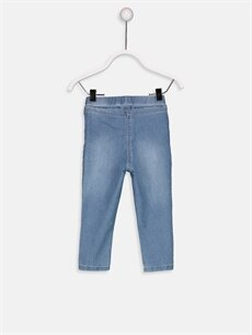%69 Pamuk %30 Polyester %1 Elastan Normal Bel Standart Kız Bebek Jean Pantolon