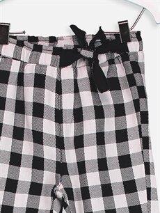 Kız Bebek Kız Bebek Ekose Desenli Pantolon