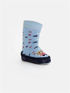 Mavi Erkek Bebek Ev Çorabı 8W4341Z1 LC Waikiki
