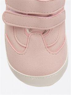 LC Waikiki Pembe Kız Bebek Deri Görünümlü ilk adım Ayakkabı