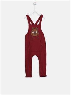 Kırmızı Erkek Bebek Aplike Nakışlı Polar Salopet 8W6263Z1 LC Waikiki