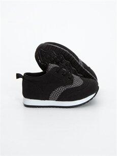 Tekstil malzemeleri Diğer malzeme (poliüretan) Tekstil malzemeleri Ayakkabı Erkek Bebek Bağcıklı Spor Ayakkabı