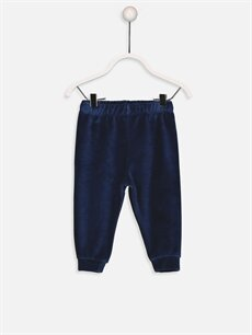 Erkek Bebek Kadife Pijama Alt 2'li