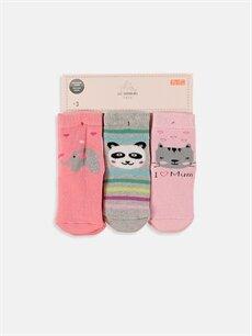 Çok Renkli Kız Bebek Soket Çorap 3'lü 8W9952Z1 LC Waikiki