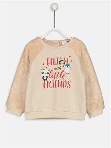 Pembe Kız Bebek Sweatshirt 8WH230Z1 LC Waikiki