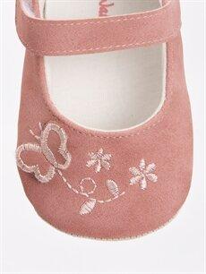 LC Waikiki Pembe Kız Bebek Nakışlı Ayakkabı