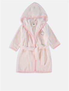 Beyaz Kız Bebek Kapüşonlu Bornoz 8WL326Z1 LC Waikiki