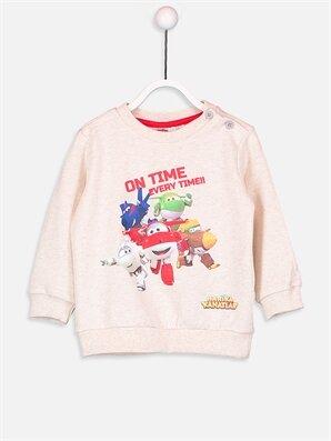 Erkek Bebek Harika Kanatlar Sweatshirt - LC WAIKIKI