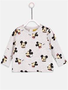 Erkek Bebek Erkek Bebek Mickey Mouse Baskılı Tişört 2'li