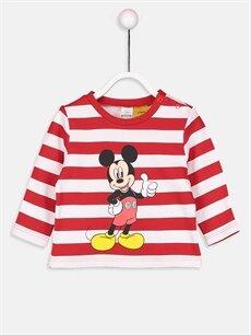 Erkek Bebek Mickey Mouse Baskılı Tişört 2'li
