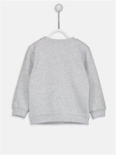 %75 Pamuk %25 Polyester  Erkek Bebek Nakış Baskılı Sweatshirt