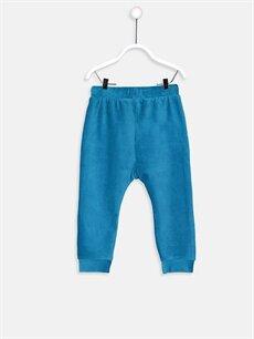 %67 Pamuk %30 Polyester %3 Elastan  Erkek Bebek Kadife Pantolon