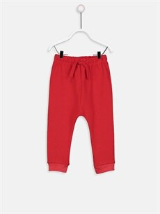 Kırmızı Erkek Bebek Eşofman Altı 8WO046Z1 LC Waikiki