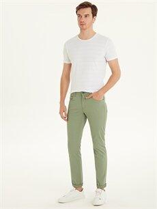 Yeşil Dar Kalıp Gabardin Chino Pantolon 9S2469Z8 LC Waikiki