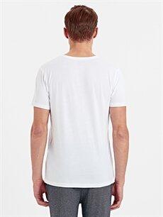%50 Pamuk %50 Modal Standart İç Giyim Üst V Yaka Fanila Tekli