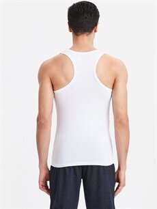 %95 Pamuk %5 Elastan Dar İç Giyim Üst Esnek Dokulu Pamuklu Atlet 2'li