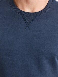 %60 Pamuk %40 Polyester Bisiklet Yaka Sweatshirt