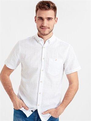 Regular Fit Keten Karışımlı Gömlek - LC WAIKIKI