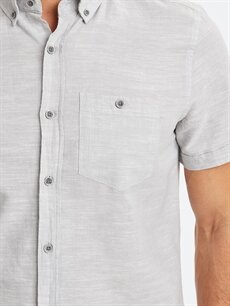 %70 Pamuk %30 Keten Regular Fit Keten Karışımlı Gömlek