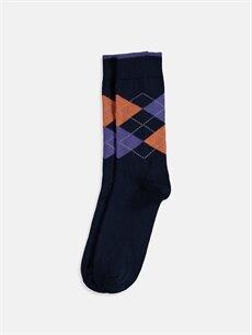 %78 Pamuk %21 Poliamid %1 Elastan  Soket Çorap 3'lü