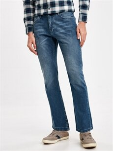 %98 Pamuk %2 Elastan  779 Regular Fit Jean Pantolon