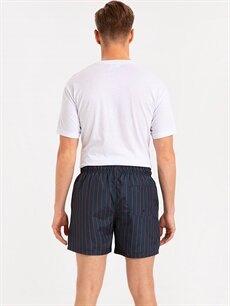 %100 Polyester %100 Polyester  Kısa Boy Çizgili Deniz Şortu