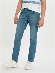 %98 Pamuk %2 Elastan Dar Jean 750 Slim Fit Jean Pantolon